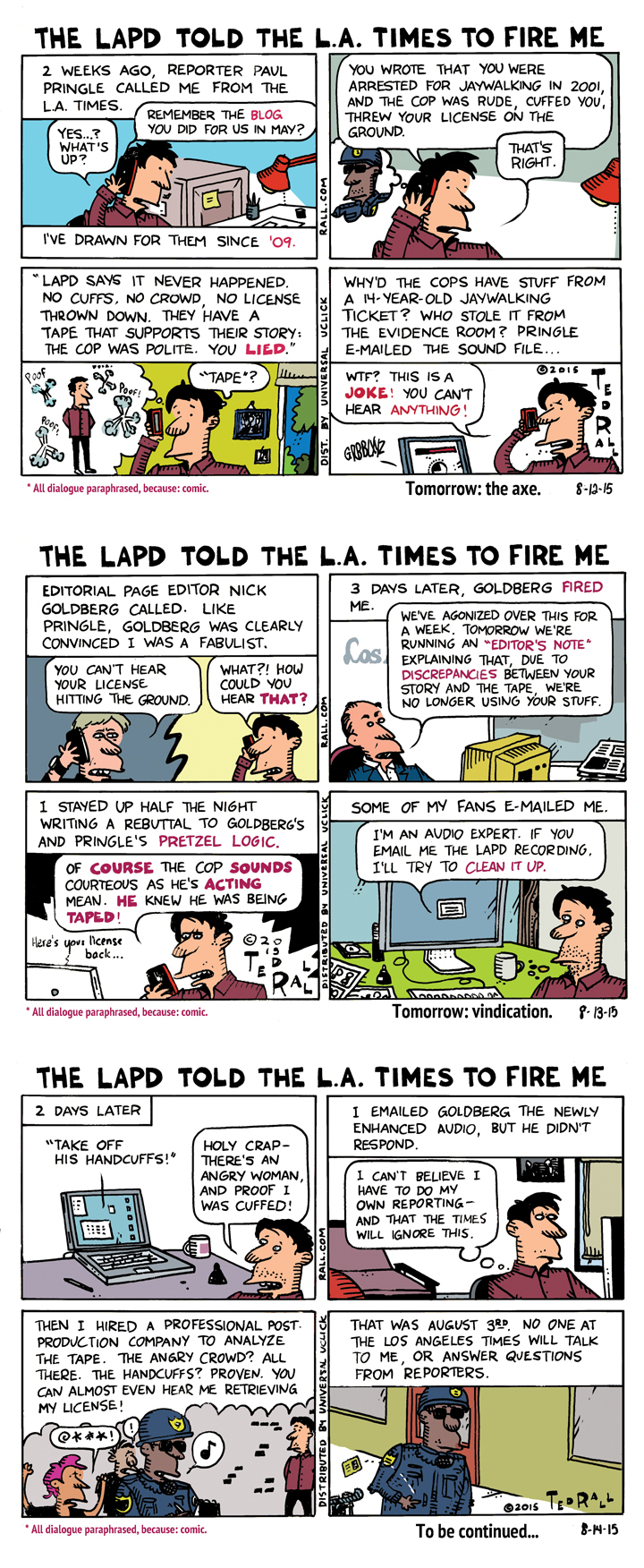 How the LA Times Fired Me for the LAPD (Part 1 of 3)