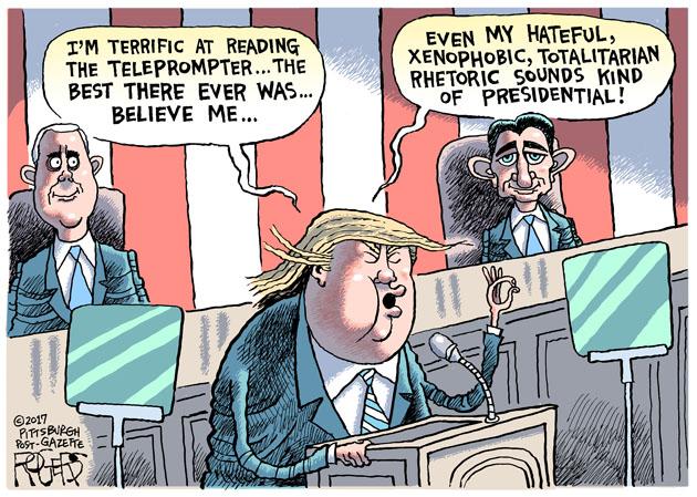 Teleprompter Trump