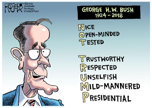 Rob Rogers George Bush