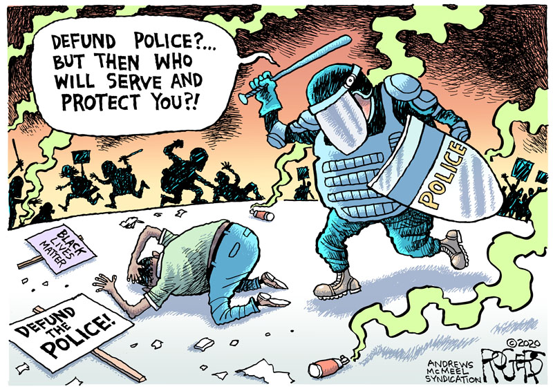 Rob Rogers | Defund Police